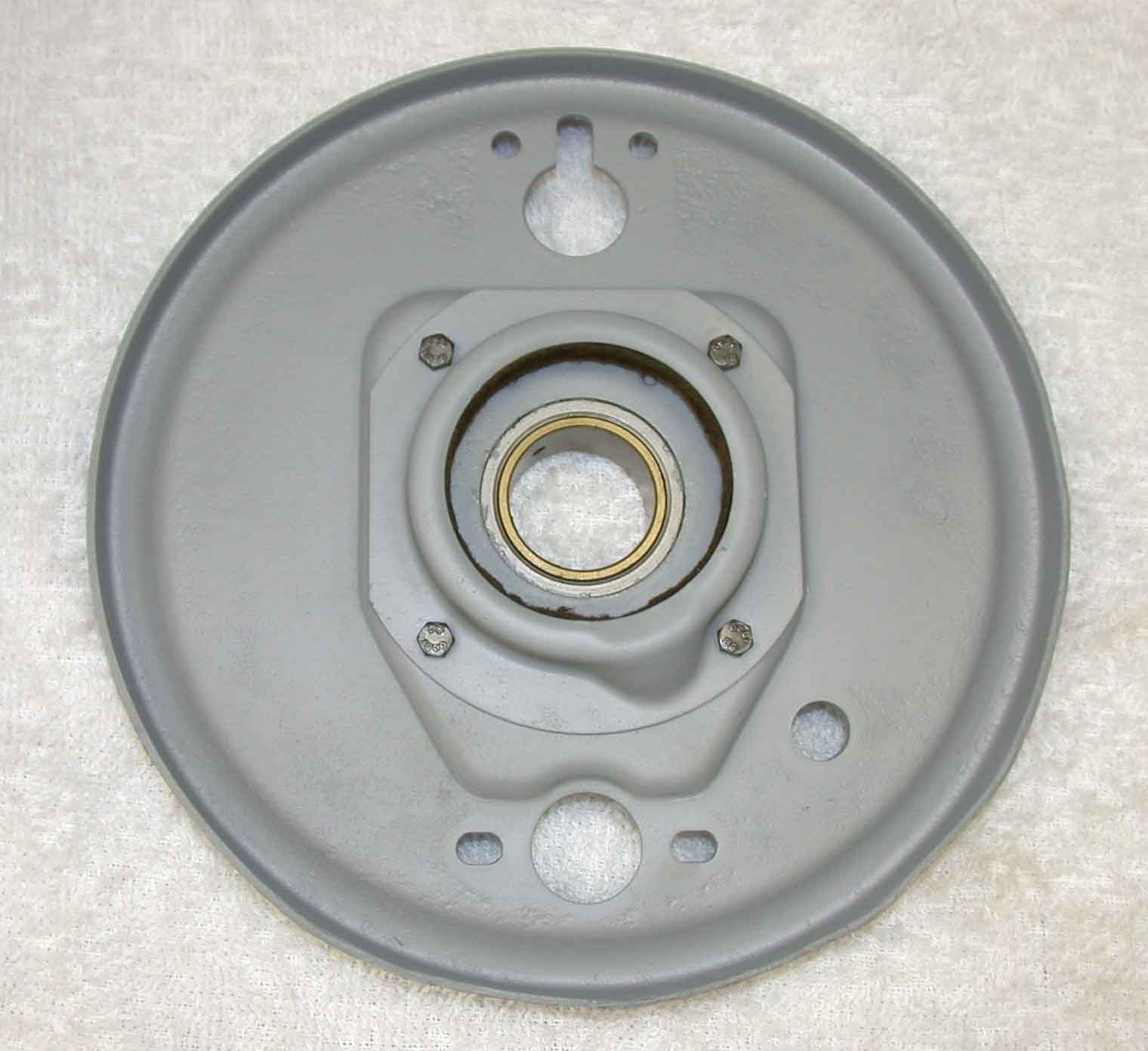 This Brake Plate Is For The Front Right Location It Has Been Cleaned And  Primed It Is In Very Good Condition