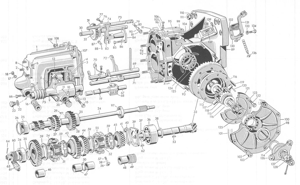 service manual  exploded view 1957 bmw 600 manual